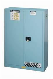 Justrite Sure-Grip EX Blue Steel Safety Cabinets for Corrosives